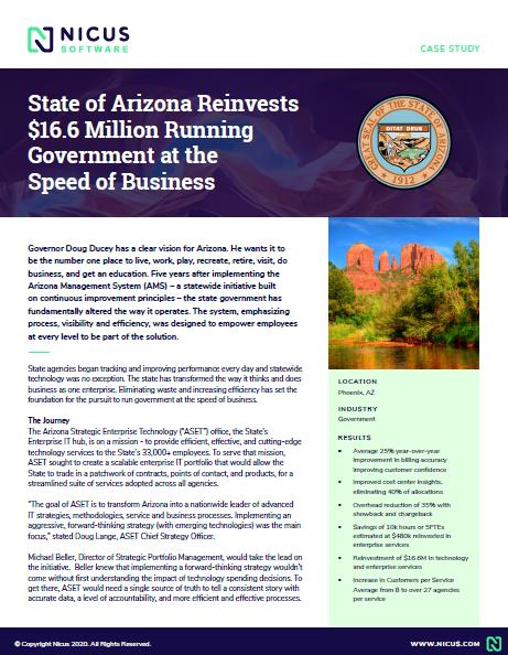 State of Arizona Case Study